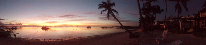 Sunrise view from the beach front of Boracay Gems