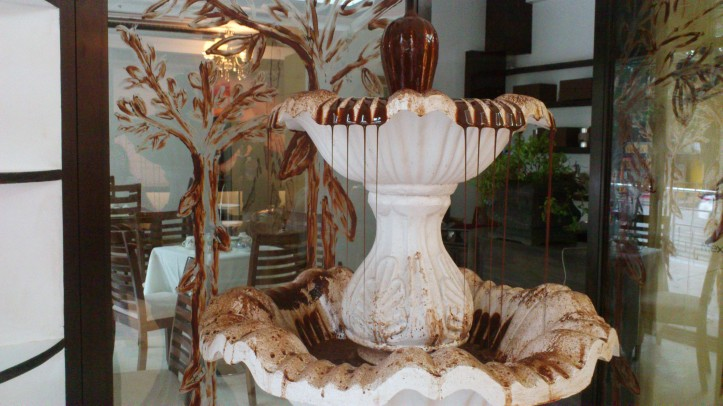 The Chocolate Chamber Boutique's chocolate fountain