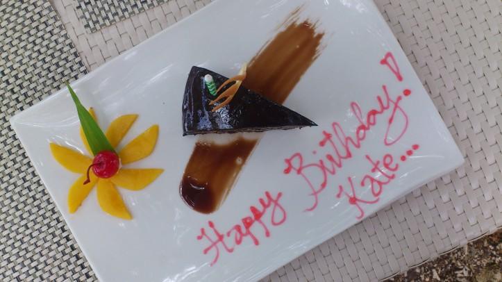 Birthday girl gets cake